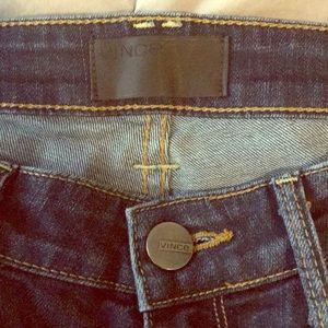 Vince size 29 dark blue skinny jeans